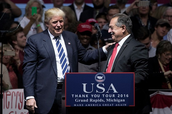 President Elect Trump Continues His 'Thank You Tour' In Grand Rapids, Michigan